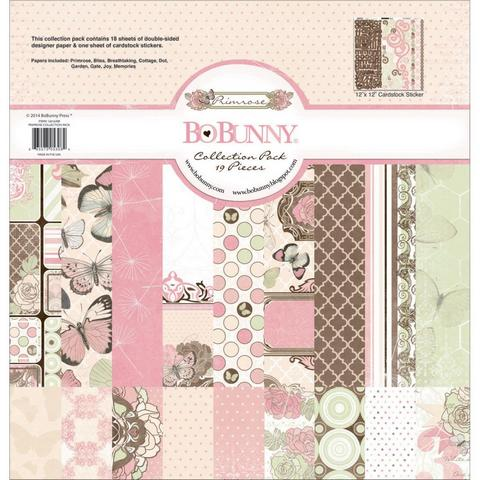 Набор бумаги BoBunny 16016308 Primrose Collection Pack 18 лист. 30х30см
