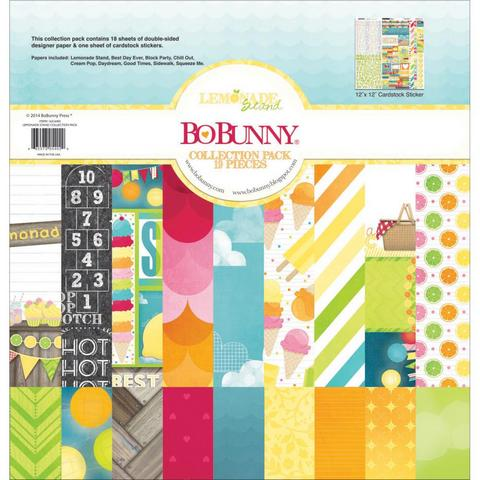 Набор бумаги  BoBunny 16316402 Lemonade Stand Collection Pack 19 лист. 30х30см