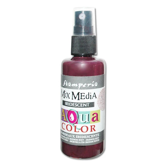 "Краска-спрей от Stamperia ""AQUACOLOR SPRAY 60ML. - IRIDESCENT BURGUNDY"", бургунди, 60 мл"