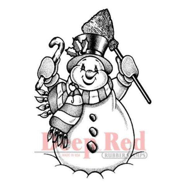 Резиновый штамп «Frosty the Snowman» от Deep red stamps