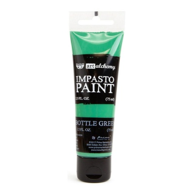 Акриловая краска зеленая Finnabair Art Alchemy Impasto Paint - Bottle Green от Prima Marketing